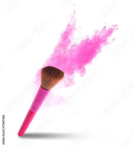 canvas print picture professional make-up brush