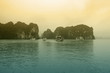 Leinwanddruck Bild - Halong bay on sunset