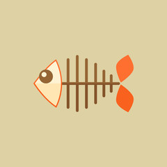 Fish. Food Flat Icon