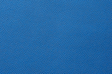 Closeup of seamless blue leather texture