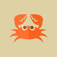 Crab. Food Flat Icon