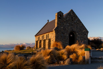 Church of the Good Shepherd near lake tekapo in New Zealand.