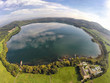 Leinwandbild Motiv Aerial view on Laacher See