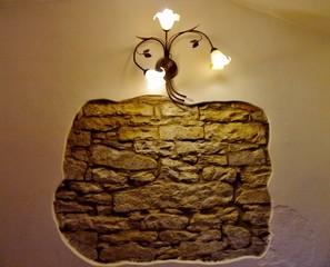 Dekoration mit Licht an der Wand