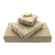 canvas print picture - Parcels wrapped in brown paper