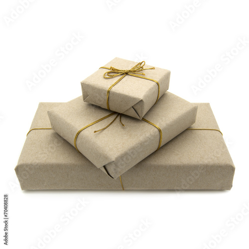 canvas print picture Parcels wrapped in brown paper