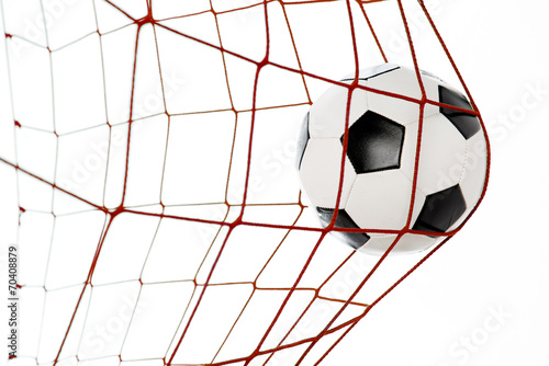 football in a red net