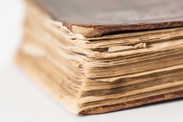 Close-up of old book.