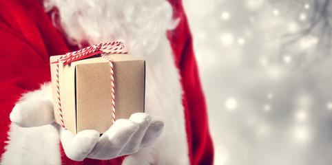 Santa Claus giving a gift