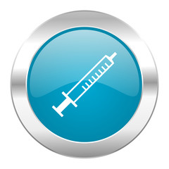 medicine internet blue icon