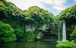 Leinwanddruck Bild - Nature waterfall
