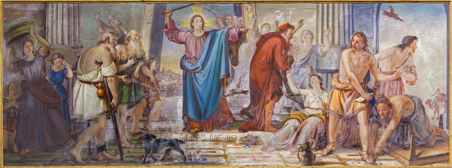 Bergamo - Jesus Cleanses the Temple scene