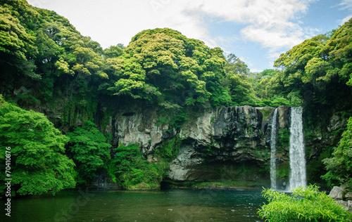 Leinwanddruck Bild Nature waterfall