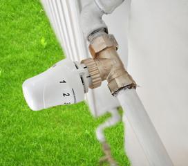 Ecologic heating, radiator saving energy