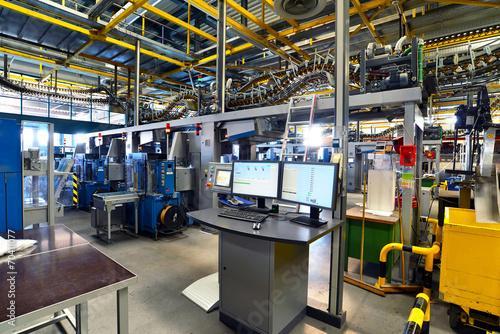 Fotobehang Industrial geb. Versandabteilung in einer Druckerei für Tageszeitungen