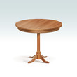 Vector Empty Round Wood Table - 70411444
