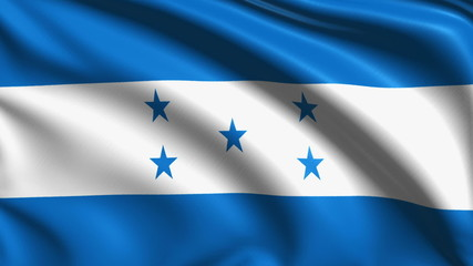 flag of Honduras with fabric structure; looping