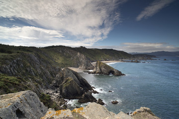 stunning clifftops in galicia, spain