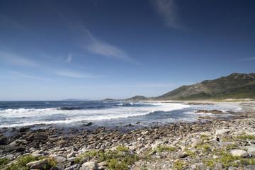 stunning pebble beach in galicia, spain