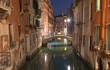 Venice - Look canal in the dusk near the center of the town