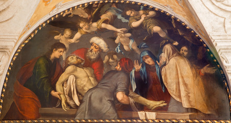 Padua - Burial of Jesus scene in church San Gaetano