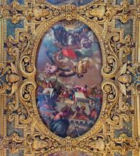Wenecja - sufit kaplicy w bazylice świętego Jana i Pawła