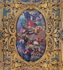 Venice - Ceiling of chapel in  Basilica di san Giovanni e Paolo