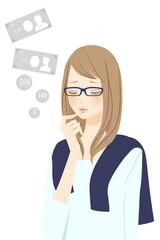 お金 悩む女性