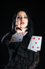 Girl With Playing Cards