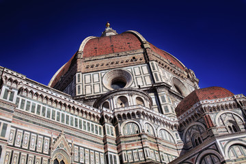 Florence Cathedral Italy, section view with cupola
