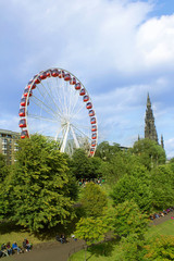 Big wheel in Edinburgh, during summer 2014