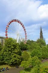 Big wheel in Edinburgh, during summer 2014