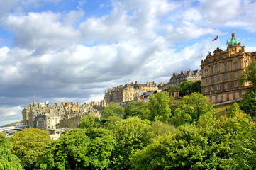 Princess Gardens in Edinburgh, Scotland