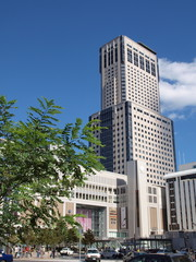 札幌駅とJRタワー