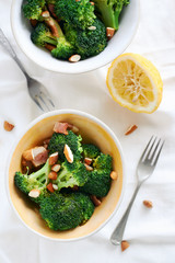 Healthy snack light meals broccoli salad