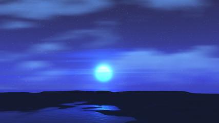 Moonlit sky landscape