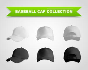 Baseball cap template set