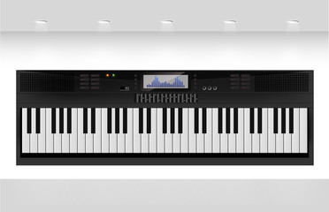 Piano - Teclado Electrico - Ilustracion