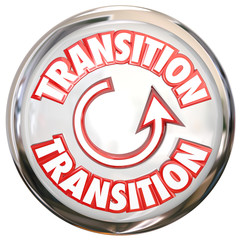 Transition Word White Button Icon Change Process Cycle