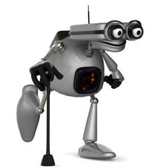 old robot bengal walking