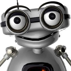 old robot nice portrait