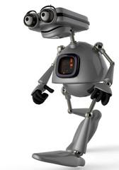 old robot nice walking