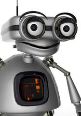 old robot portrait