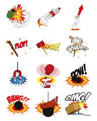 comic expressions set