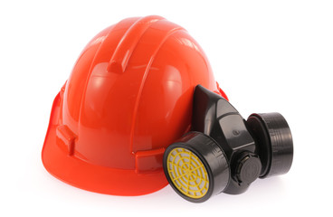 safety helmet and chemical protective mask