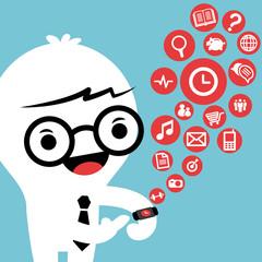 smart watch gadget concept cartoon illustration