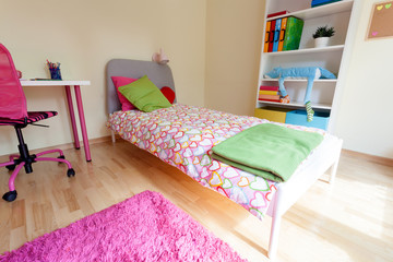 Cute pink room for girl