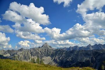 Berge im Panorama, Hochgebirge