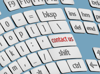 Contact us on screen keyboard business concepts background