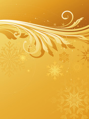 Winter Backgrounds Gold